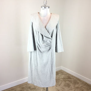 Tahari 18W Gray Silver Shimmer dress Cocktail